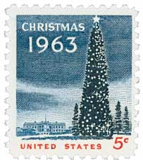 US #1240 1963 National Christmas Tree and White House