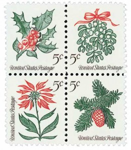 US #1254-57 1964 Christmas Issue First U.S. Se-tenant