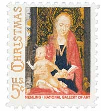 US #1321 Madonna and Child with Angels