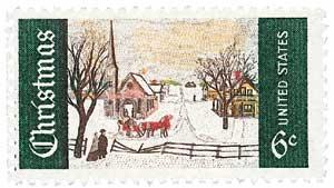 US #1384 1969 Christmas Winter Sunday