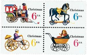 US #1415-18 1970 Christmas Toys