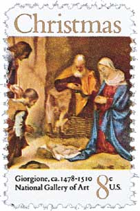 US #1444 Christmas Adoration of the Shepherds