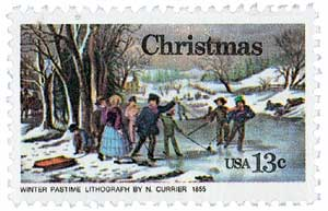 US #1702 and #1703 1976 Currier & Ives