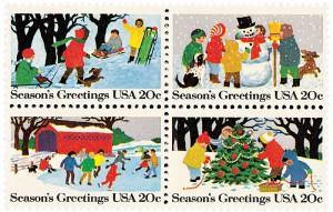 US #2027-30 1982 Seasons Greetings