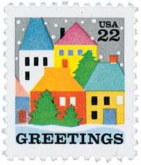 US #2245 1986 Christmas Village Scene