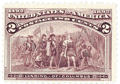 US #231 Landing of Columbus