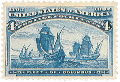 US #233 Fleet of Columbus