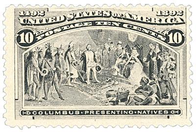 US #237 Columbus Presenting Natives