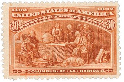 US #239 Columbus at La Rabida