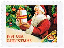 US #2583 1991 Santa with Present