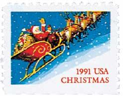 US #2585 1991 Santa and Sleigh