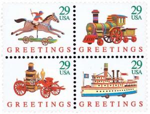 US #2711-14 Christmas Toys