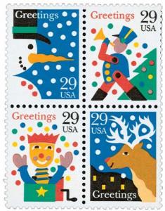 US #2791-94 1993 Christmas Greetings
