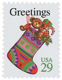 US #2872 1994 Christmas Stocking