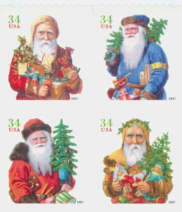 US #3541-44 Santa Claus