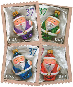 US #3887-90 2004 Holiday Ornaments