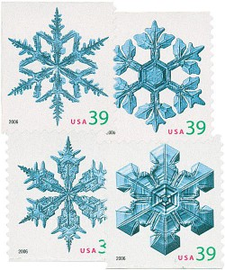 US #4105-08 2006 Holiday Snowflakes