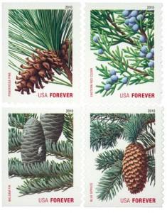 US #4478-81 2010 Holiday Evergreens