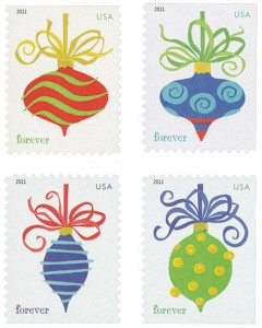 US #4571-74 2011 Holiday Baubles