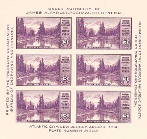 US #750 American Philatelic Exhibition