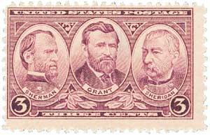 US #787 Sherman, Grant & Sheridan
