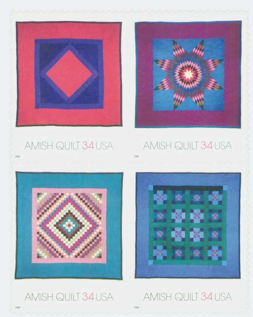US #3524-27 Amish Quilts