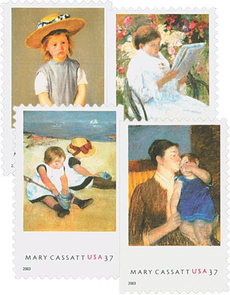 US #3804-07 Mary Cassatt Paintings