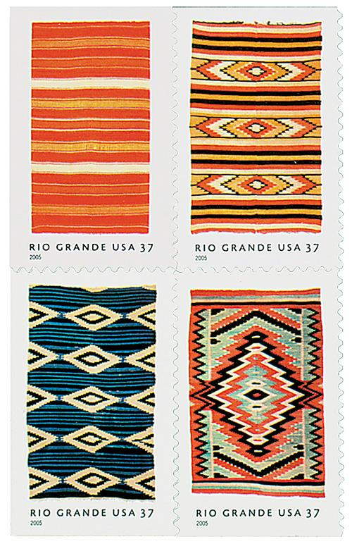 US #3926-29 Rio Grande Blankets