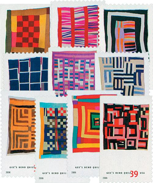 US #4089-98 Gee's Bend Quilts
