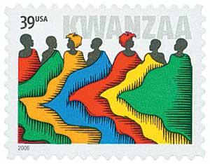 US #4119 2006 Kwanzaa Reissue with 39¢ denomination