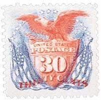 US #121 Shield and Eagle