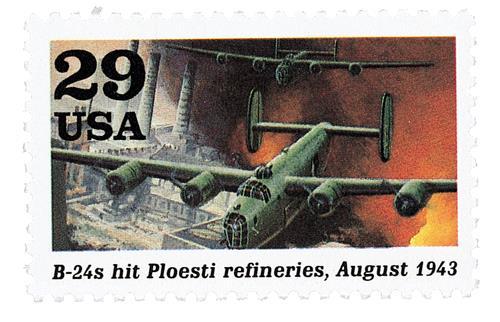 B-24s Hit Refineries