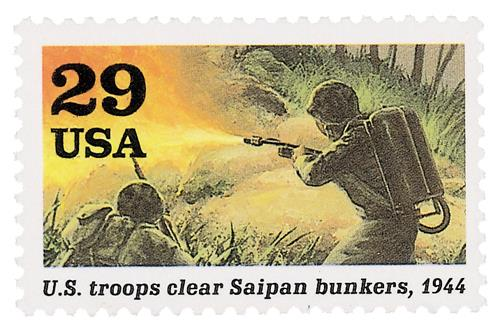 US Troops Clear Saipan