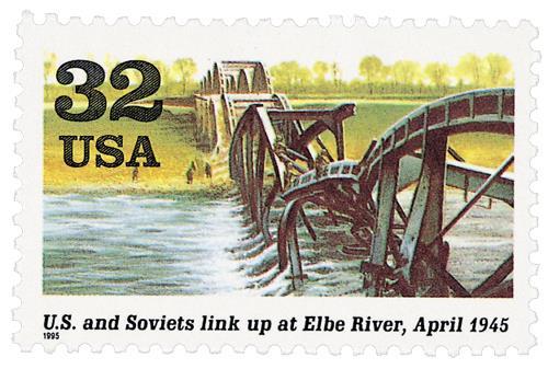 US and Soviets Meet at Elbe